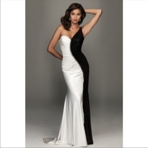 Black and White Evenings by Allure Dress